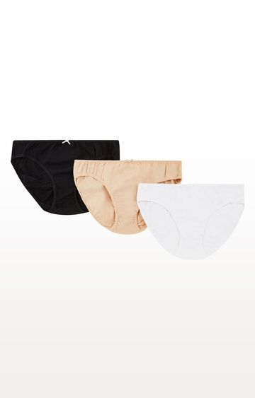 Mothercare | Beige, Black and White Maternity Mini Briefs - 3 Pack