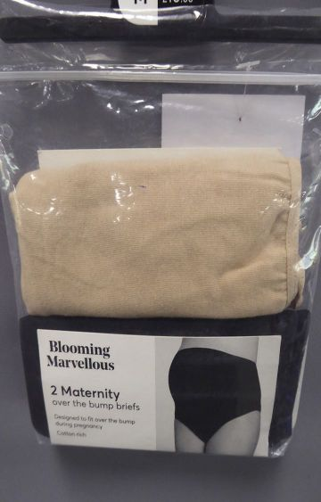 Mothercare | Black and Beige Solid Maternity Panty