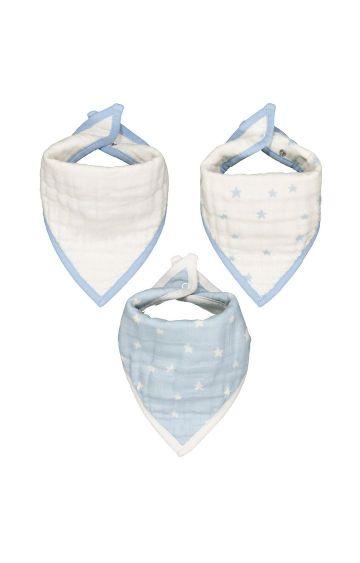 Mothercare | Muslin Dribbler Bibs - Blue