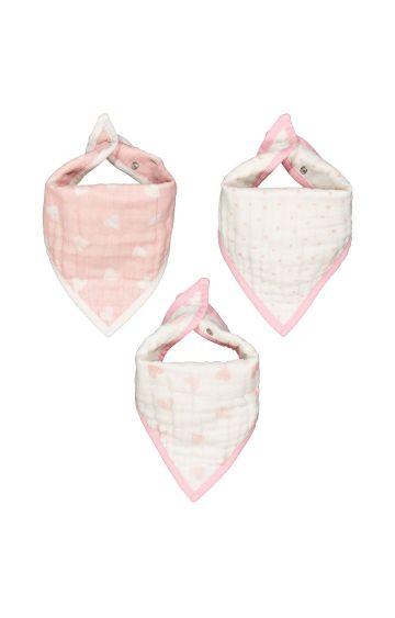 Mothercare | Muslin Dribbler Bibs - Pink