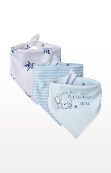 Mothercare | Elephant and Turtle Dribbler Bibs - Pack of 3