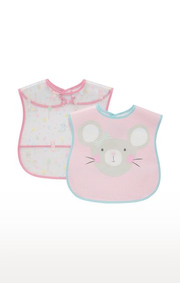 Mothercare | Mothercare Hello Friend Toddler Crumb Catcher Bibs - 2 Pack