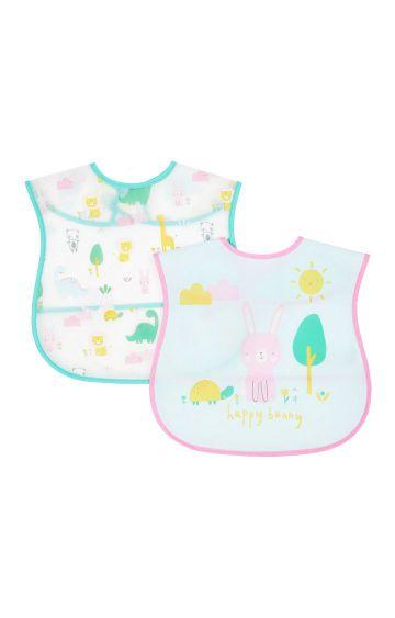 Mothercare | Bunny Crumb Catcher Bibs - Pack of 2
