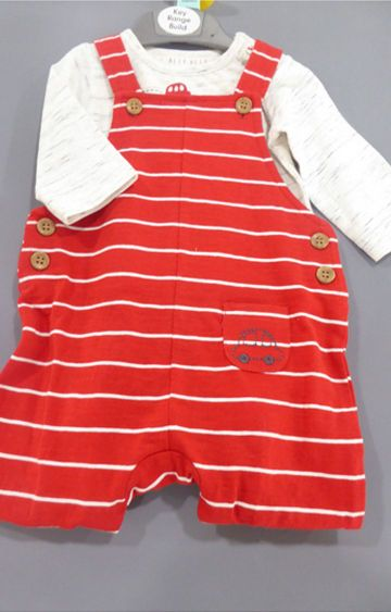 Mothercare | Red Striped Dungaree