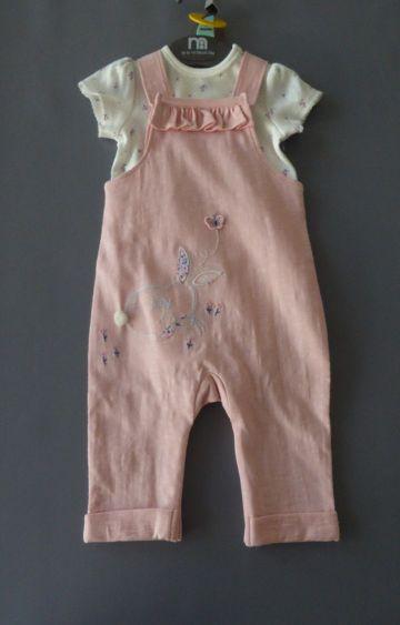 Mothercare | Pink Printed Dungaree