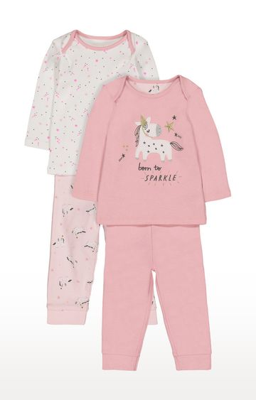 Mothercare | Pink Printed Nightsuit