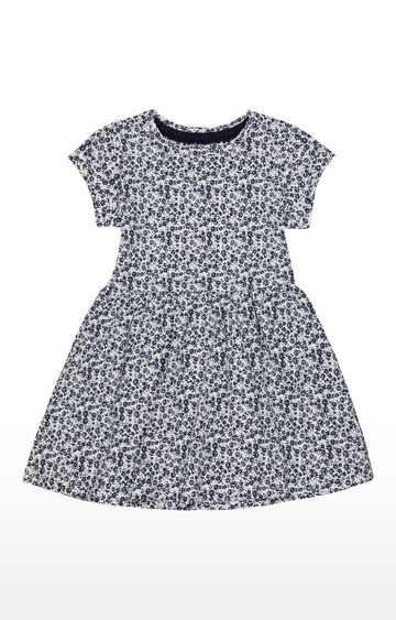 Mothercare   White and Blue Printed Dress