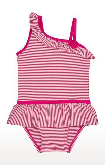 Mothercare   Pink Striped Swimwear