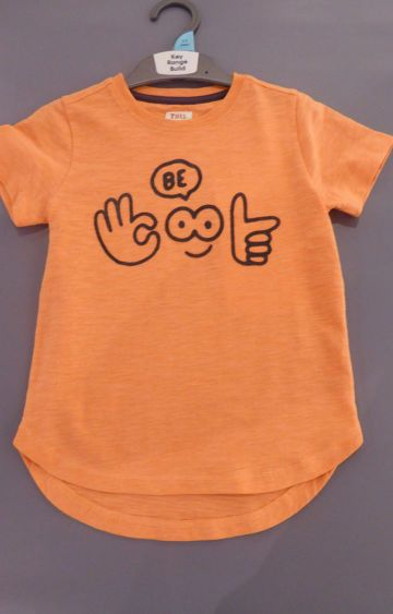 Mothercare | Orange Printed T-Shirt