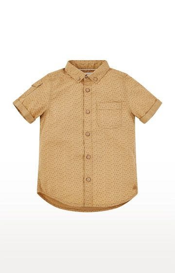 Mothercare | Tan Printed Shirt