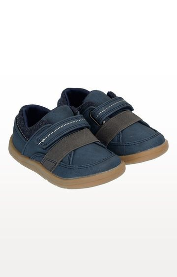 Mothercare | First Walker Navy Trainer Shoes