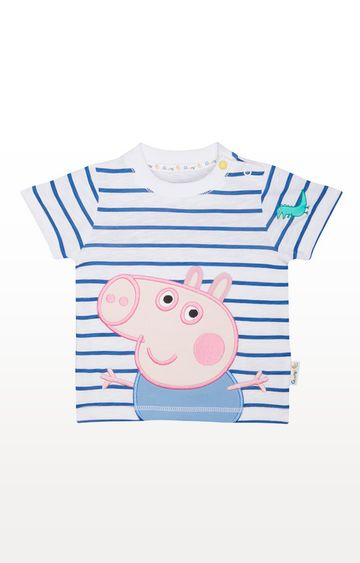 Mothercare | George Pig Stripe T-Shirt