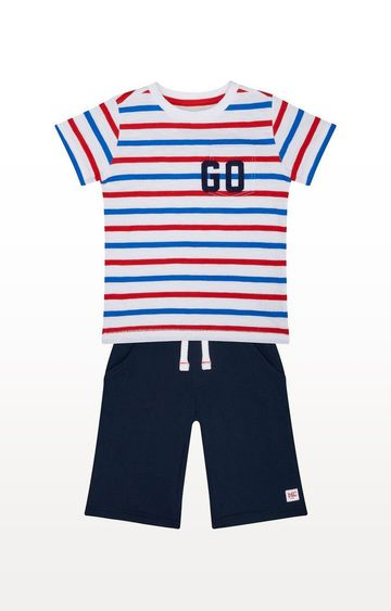 Mothercare | Striped T-Shirt And Shorts Set