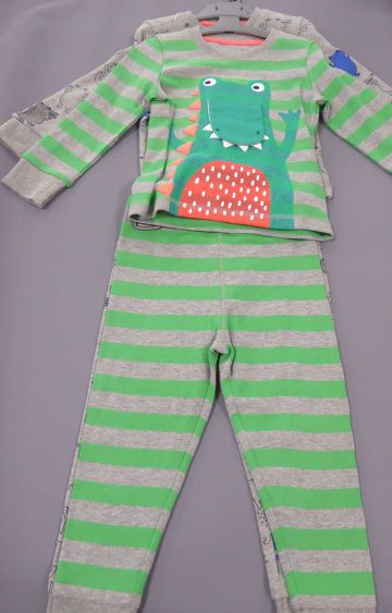 Mothercare | Green & Grey Printed Nightsuit - Pack of 2