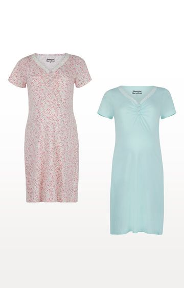 Mothercare | Floral Nursing Nightdresses - Pack of 2