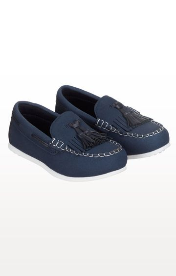 Mothercare | Navy Printed Tassel Loafers