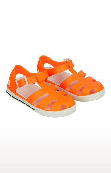 Mothercare | Neon Orange Jelly Sandals