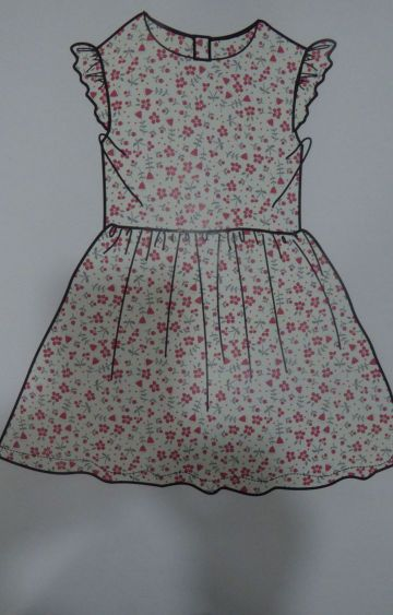 Mothercare   White Printed Dress
