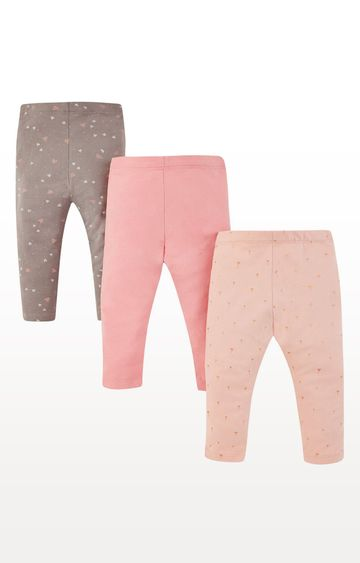 Mothercare | Multicoloured Printed Heart Leggings - Pack of 3