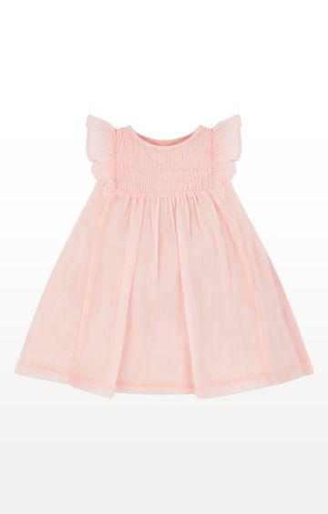Mothercare | Pink Printed Smock Dress