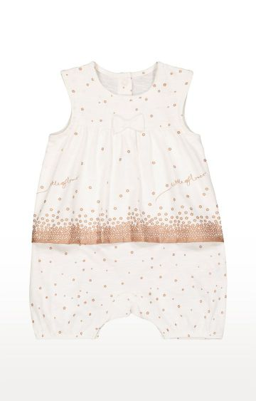 Mothercare | White Printed Jumpsuits