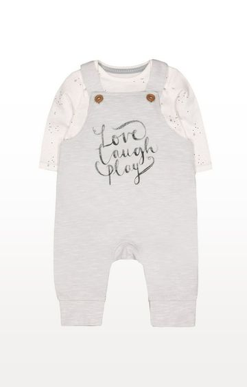 Mothercare | Love Laugh Play Dungarees And Bodysuit Set
