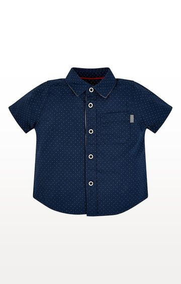Mothercare | Navy Spot Shirt