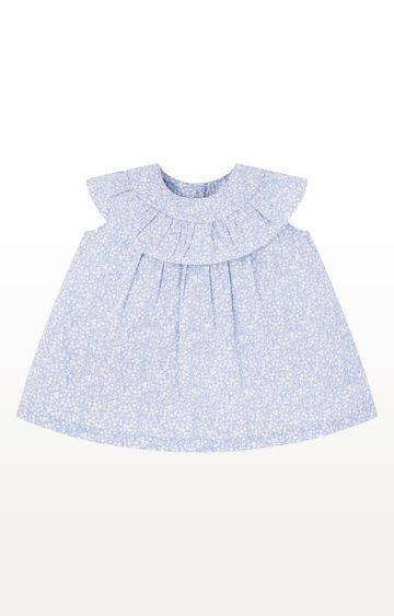 Mothercare | Blue Floral Frill Blouse