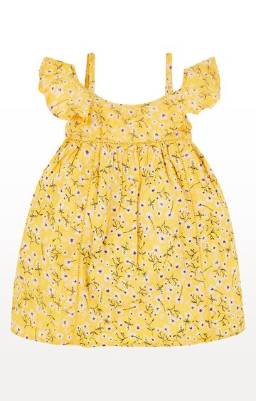 Mothercare | Yellow Floral Bardot Dress