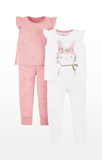 Mothercare | Bunny and Floral Pyjamas  Pack of 2