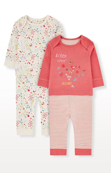 Mothercare | Floral Little Friends Pyjamas - Pack of 2