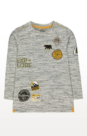 Mothercare | Grey Explore Outdoors Badge T-Shirt