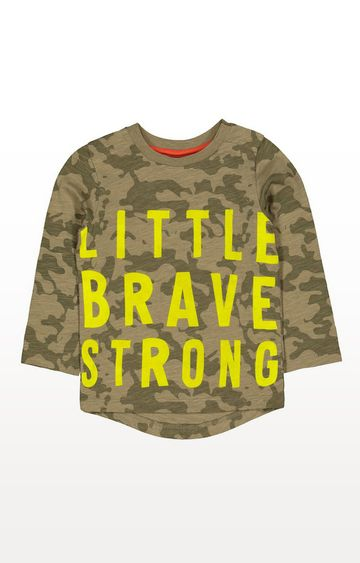 Mothercare | Green Camo Little Brave T-Shirt