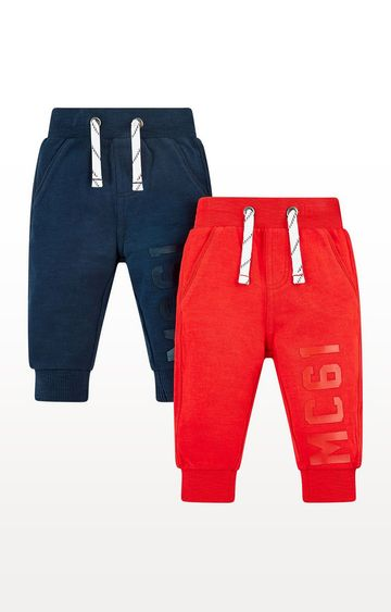 Mothercare | Red And Navy Joggers - 2 Pack