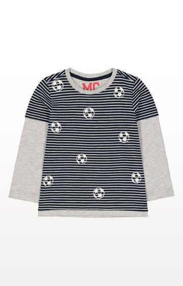 Mothercare | Navy Mock Sleeve T-Shirt