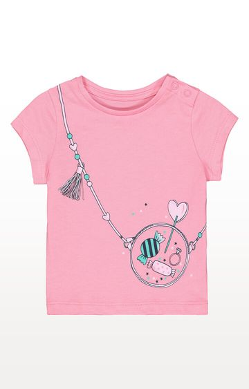 Mothercare | Pink Sweets Handbag T-Shirt