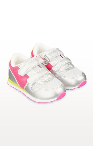 Mothercare | Neon Pink and Glitter Trainers