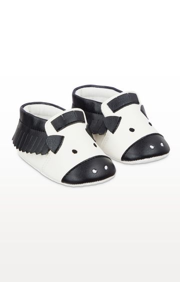 Mothercare | Zebra Moccasin Pram Shoes