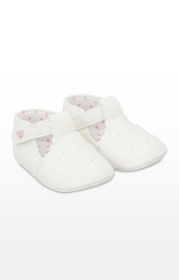 Mothercare | White T-Bar Pram Shoes