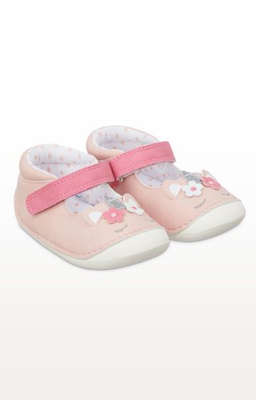 Mothercare | Pink Sparkly Unicorn Crawler Shoes