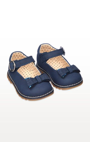 Mothercare | First Walker Navy Mary Jane Shoes