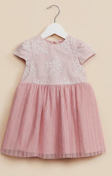 Mothercare | Pink Floral Mesh Party Dress