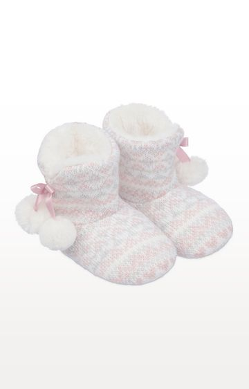 Mothercare | Fairisle Knit Boot Slippers