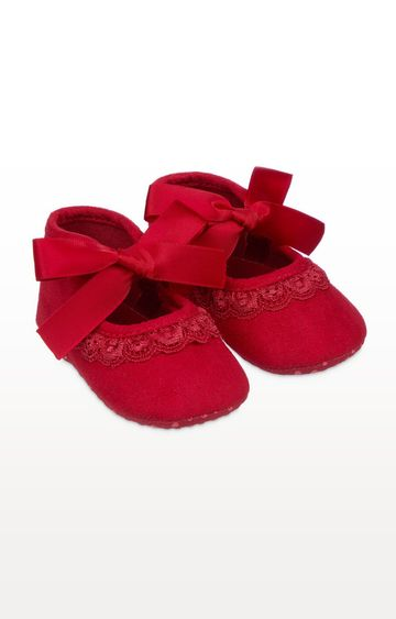 Mothercare | Red Bow Pram Shoes
