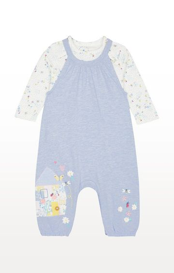 Mothercare | Little House Dungarees and Bodysuit Set