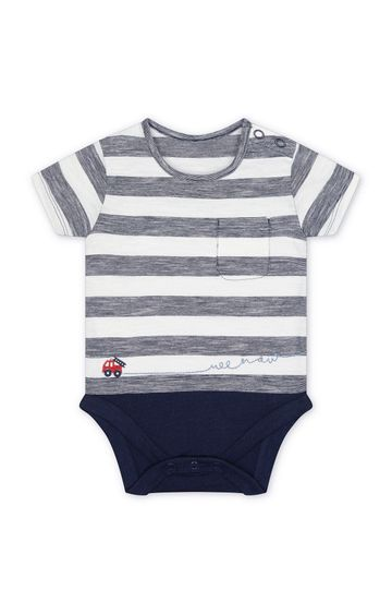 Mothercare | Navy Striped Romper