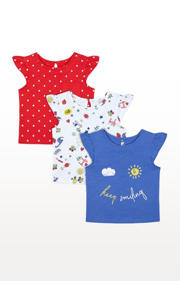 Mothercare | Colourful Keep Smiling Print T-Shirts - 3 Pack