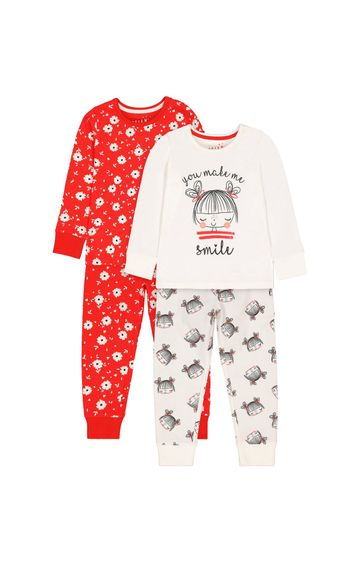 Mothercare   Red Printed Pyjamas - Pack of 2