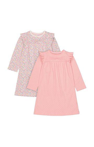 Mothercare | Multicoloured Printed Sleepwear Dress - Pack of 2
