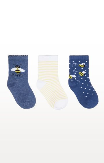 Mothercare | Bee Happy Socks - 3 Pack